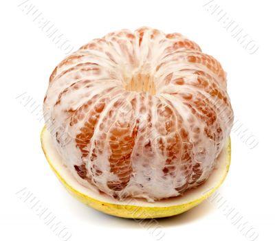 ripe fruit pomelo half purified