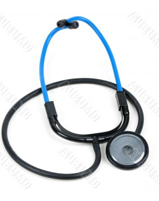 blue plastic medical stethoscope