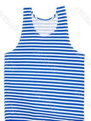 striped blue and white vest