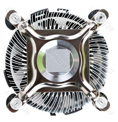 aluminum radiator fan with the CPU
