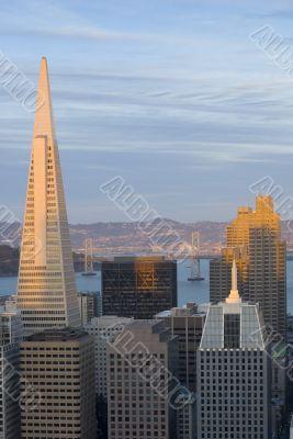 Sunset cityscape San Francisco