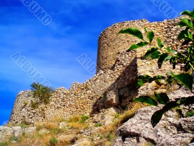 The ancient Genoese fortress in Crimea