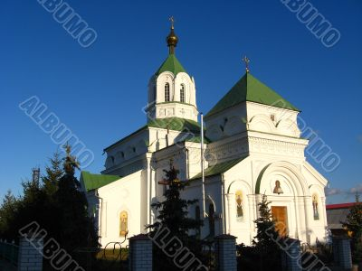 The beautiful Nikolaevskaya church in Radomyshl