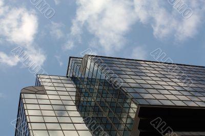City. Sky in art nouveau style.