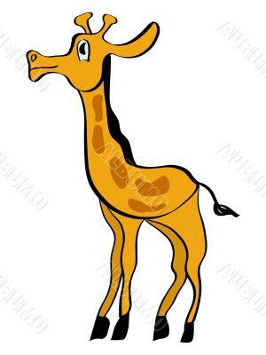 giraffe in simple cartoon style