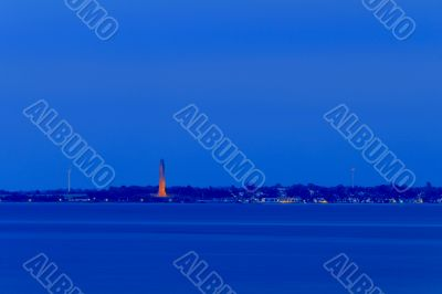 Kiel - Laboe - Tower and WWII Memorial Submarine at Night