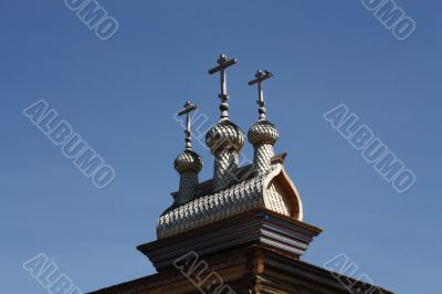 Pinnacle of wooden house of the seventeenth century