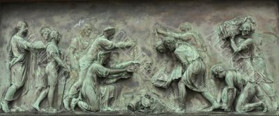 Bas-relief on the monument to Minin and Pozharsky in Moscow