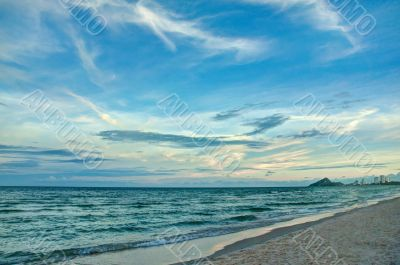 The beach of the Gulf of Siam