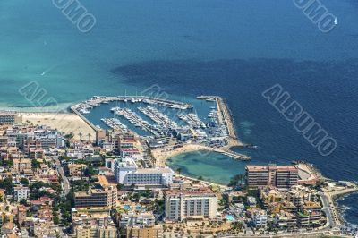 Bird`s-eye view on the island Mallorca
