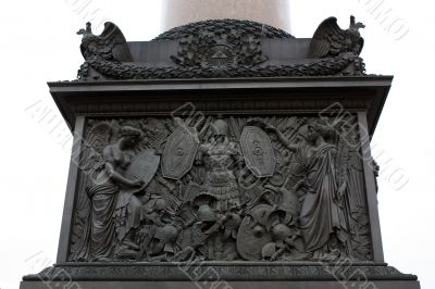 Bas-relief on  Alexandrijskiy Column at the Palace Square in St