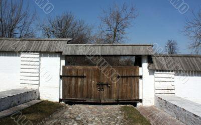 Sovereign yard fence in Kolomenskoye (Moscow), XVII century.