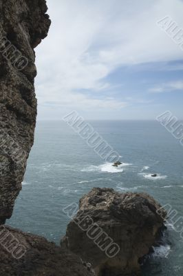 Nazare Beach and Cliff in Portugal