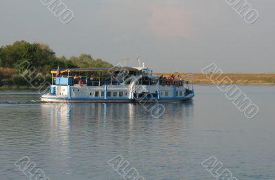 Pleasure boat river