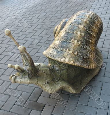 Decorative snail on the street