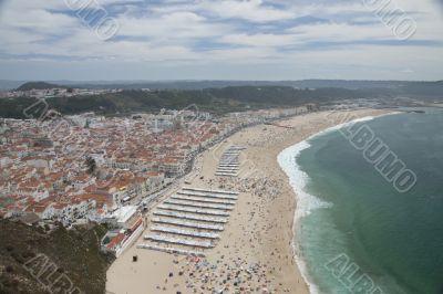Nazare beach in Portugal
