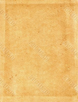 Sheet of the old, coarse yellow paper