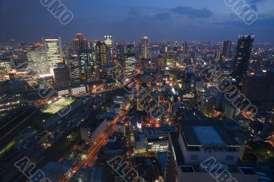 City of Osaka at night