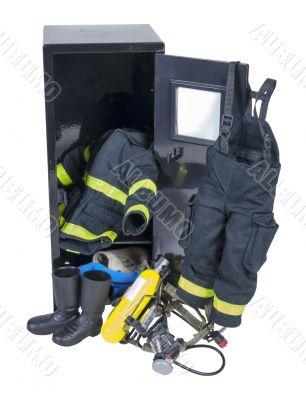 Fireman Outfit in Locker