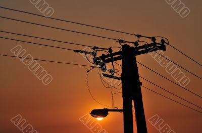 Street Light Sunset