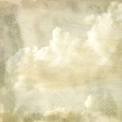 Delicate vintage background - clouds.