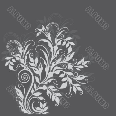 Elegant decorative floral illustration