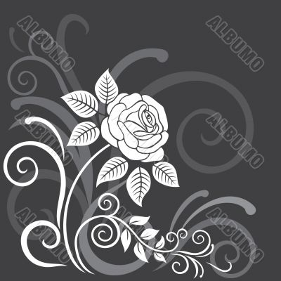 Decorative floral background