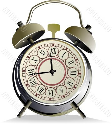 Alarm clock vector illustration on white background
