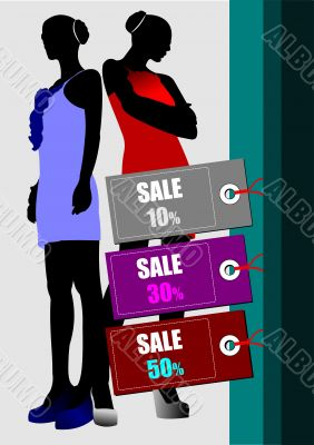 Few sale images. Vector illustration for designers. Shopping