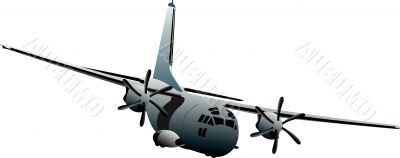 Combat aircraft. Colored vector illustration for designers