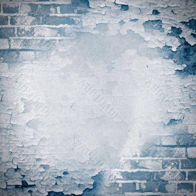 Blue square grunge background
