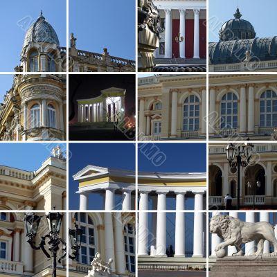 City architecture - a collage. Odessa, Ukraine
