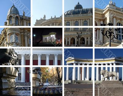 City architecture - a collage. Odessa, Ukraine