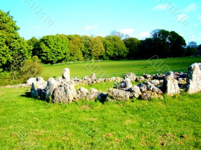 Stone Circle In Field
