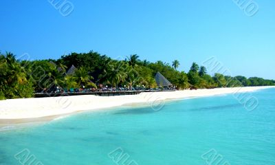 Maldives coastline