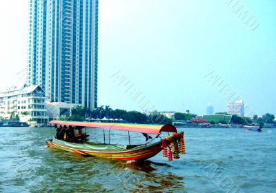 Traditional Boat On River