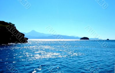 Islands And Mountains In Blue Sea