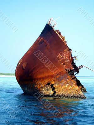 Bow Of Wreck Sticking Out of water