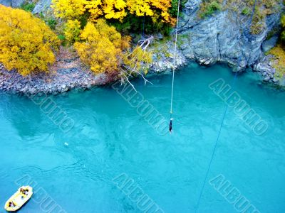 Bungee Jump  over river