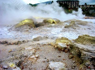 Volcanic Rock And Steam