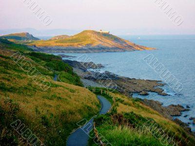 Grassy Hills By Sea