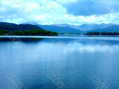Large Lake With Hills
