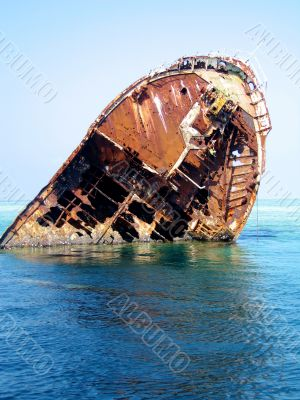 dilapidated ship wreck