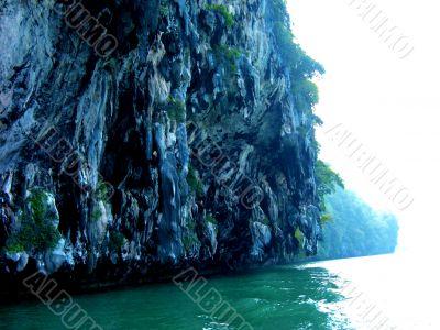 Sheer Cliffs Above Sea