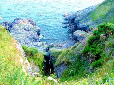 Rocky Crevice By Sea