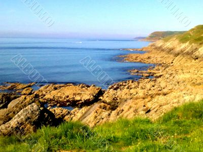 Sea View With Rocky Slopes