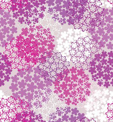 Decorative seamless flower background