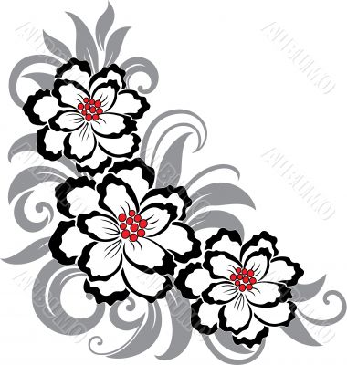 Decorative floral illustration