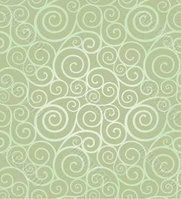 Elegant swirl seamless composition