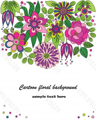 Decorative colorful cartoon flower illustration